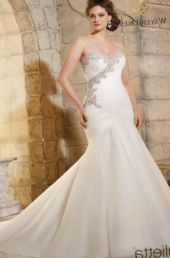 sparkely plus size bridal gowns
