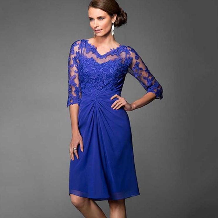 Plus Size Blue Lace Dress Pluslook Collection
