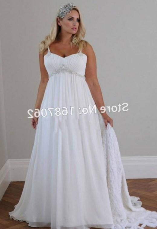 Plus Size Wedding Dresses With Empire Waist : Empire waist plus size maternity beach wedding dress summer bridal