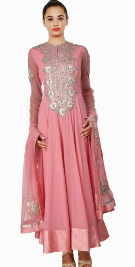 Wholesale - indian GORGEOUS BRIDAL WEAR 2018 Green long sleeve beaded sheer evening dress a line scoop appliques Ruffles long prom dress plus size