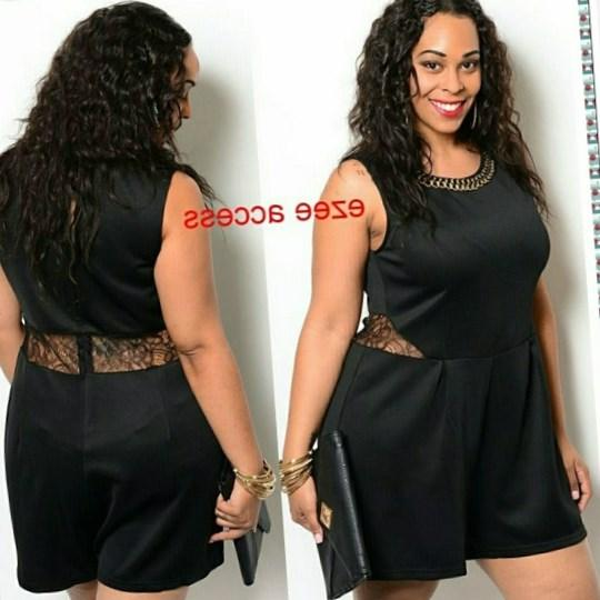 Plus size romper dress - PlusLook.eu Collection
