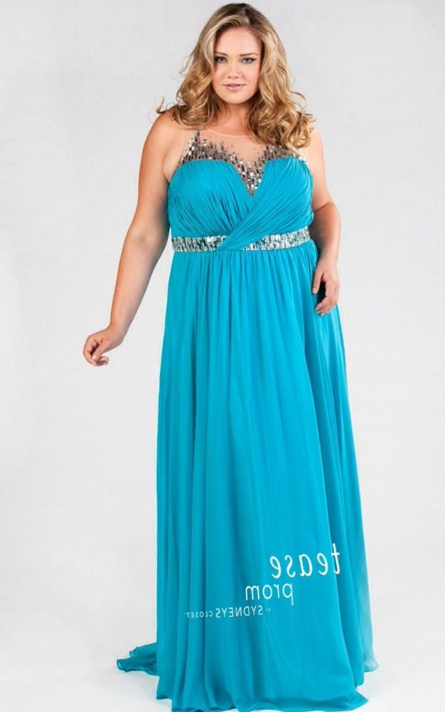 Turquoise plus size party dress