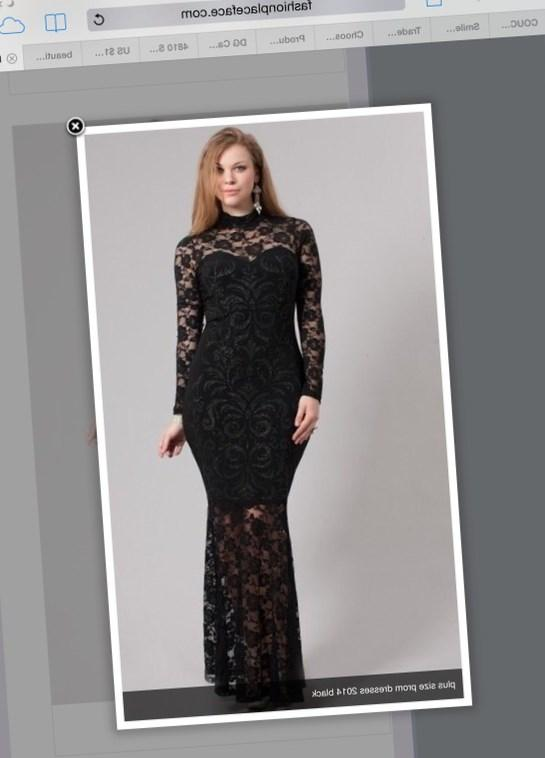 Black plus size dresses with lace sleeves