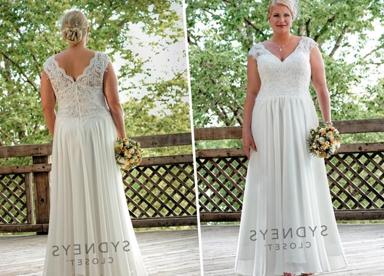 Plus Size Chiffon Wedding Dresses Canada - Wedding Dresses In Redlands