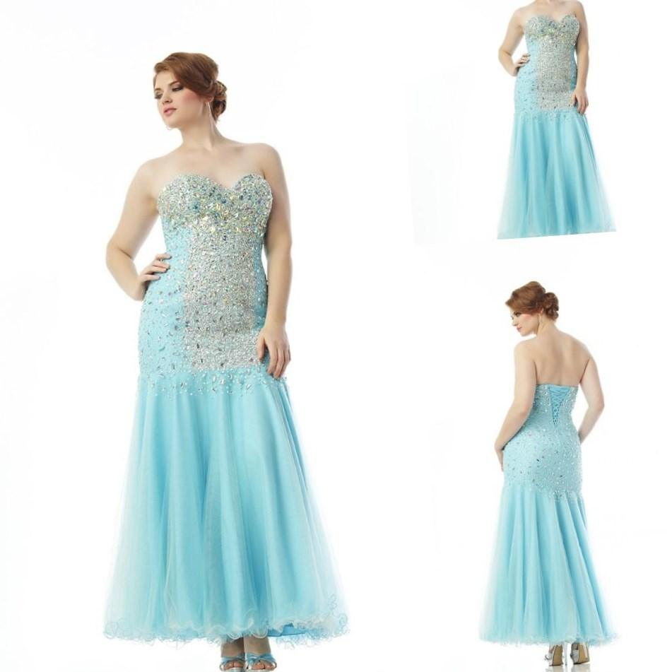 Luxury Bling Sparkly Modern Crystal Floor Length Sweetheart Plus Size Light Blue Purple Quinceanera Dresses Ball
