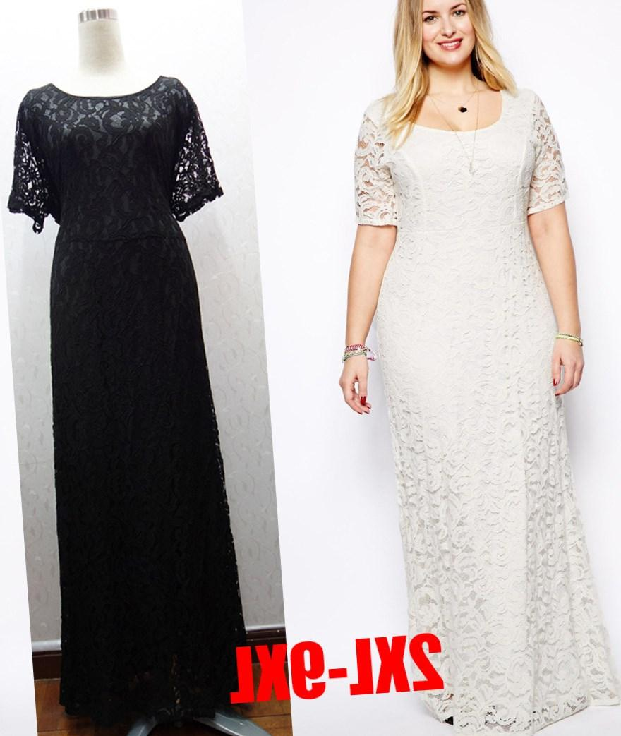 Plus Size Lace Long Dress Pluslook Collection