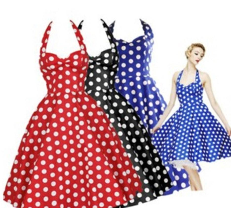Plus size rockabilly dress polka dot 50s style with by dashAmbler, $79.95: 50S Style