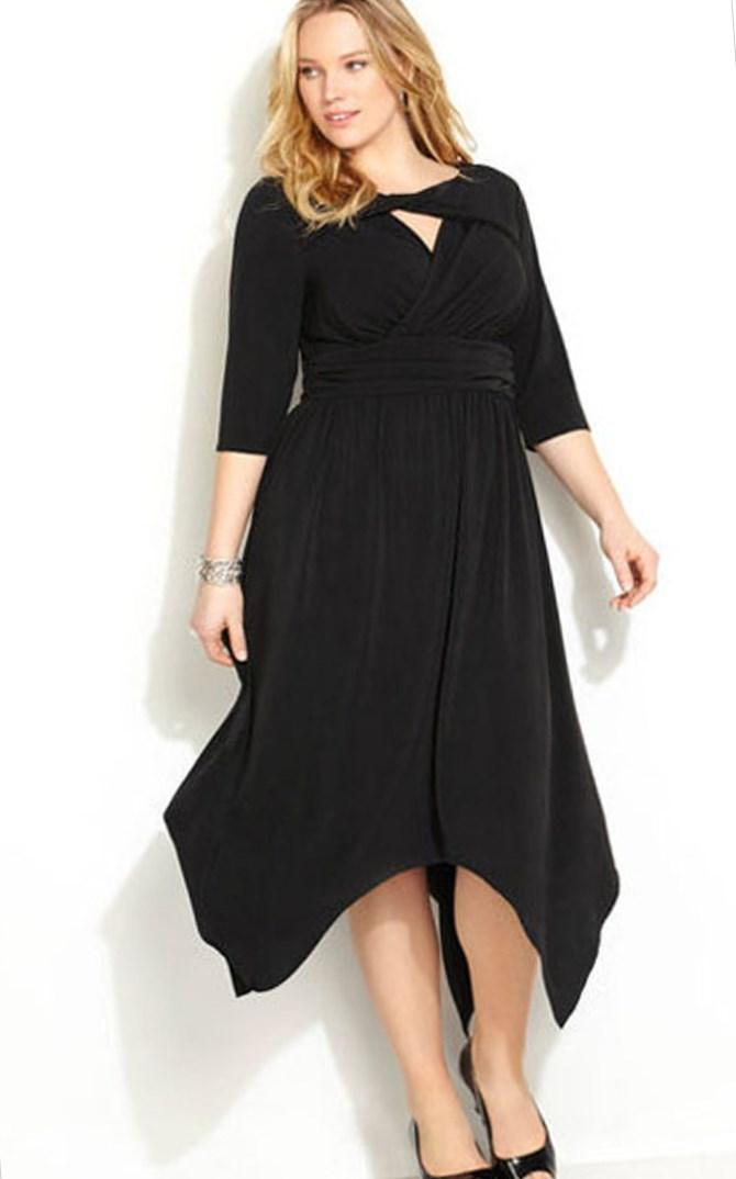 Women Plus Size Black and Red Dresses Skater Dress With Bardot Neckline for Wholesale Haoduoyi