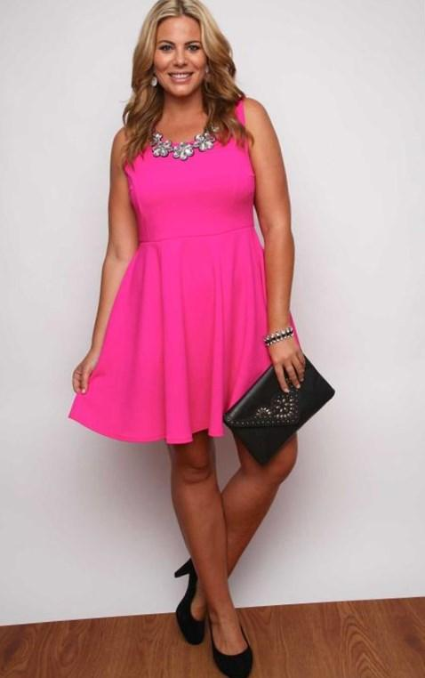 Plus Size Hot Pink Dress Pluslook Collection