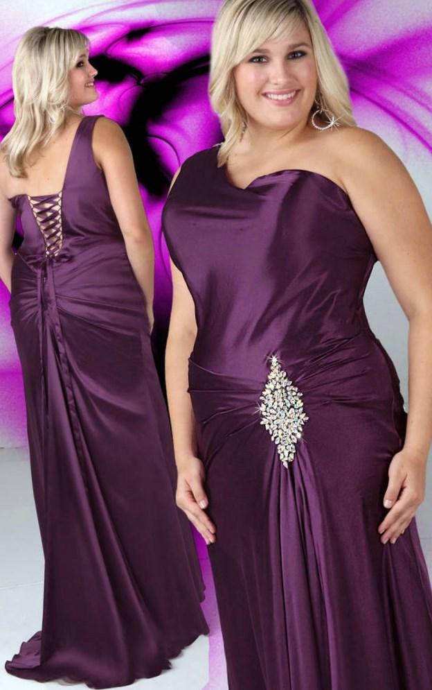 Purple bridesmaid dresses for plus size