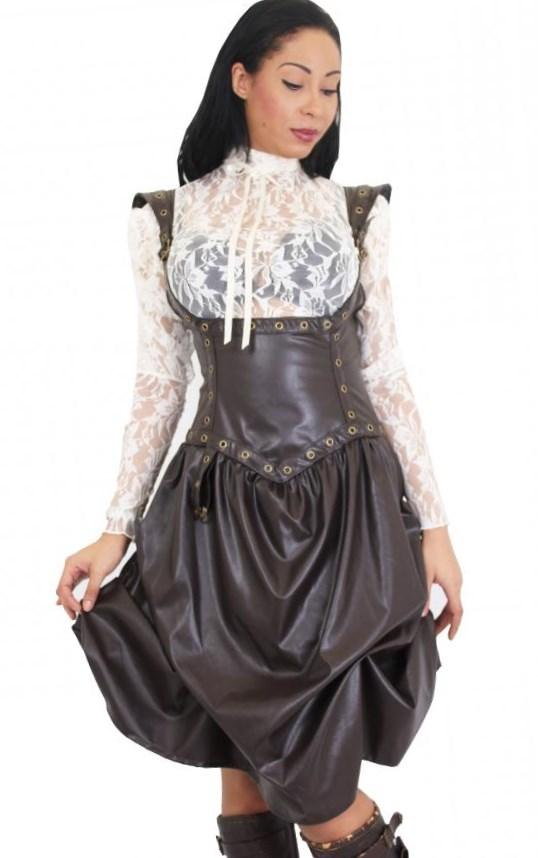 Come checkout our victorian style plus size steampunk skirts, dresses, top hats and shoes.