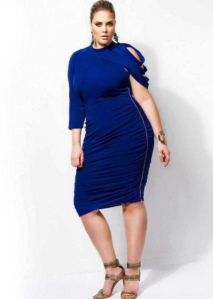 Plus size ruched dress - PlusLook.eu Collection