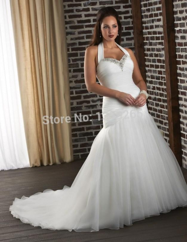 Plus size custom 2018 lace beach wedding dresses with pockets sexy backless organza bridal gowns white