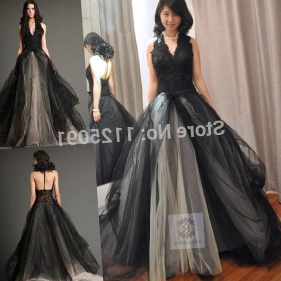 2016 Perfect Black And White Plus Size Gothic Wedding Dress Romantic Said Mhamad Custom Made Mermaid