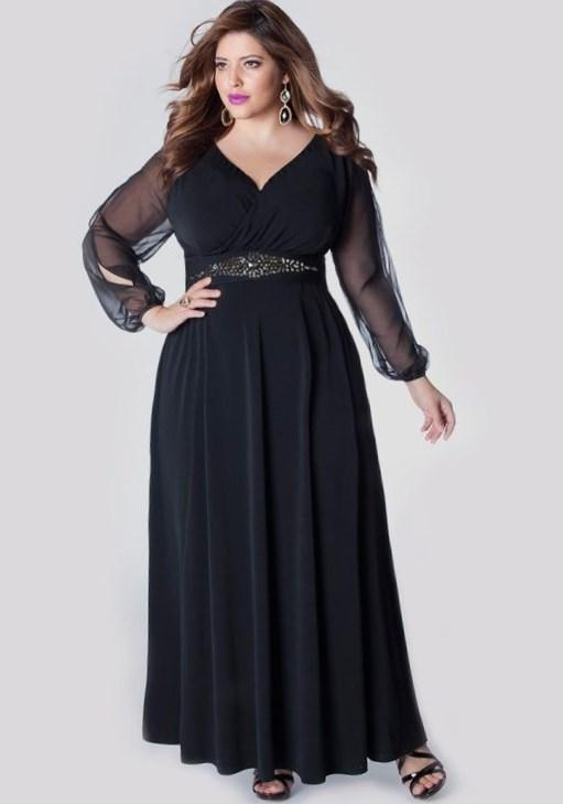 Cap Sleeves Night Clothes for Fat Women Plus Size Mother Evening Dresses