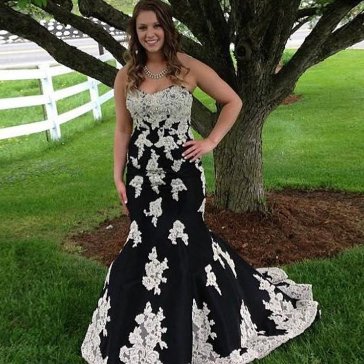 fast delivery black mermaid prom dress split side 2017 plus size mermaid pageant gowns formal women
