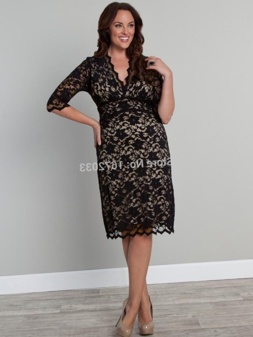 midi plus size dress pluslookeu collection