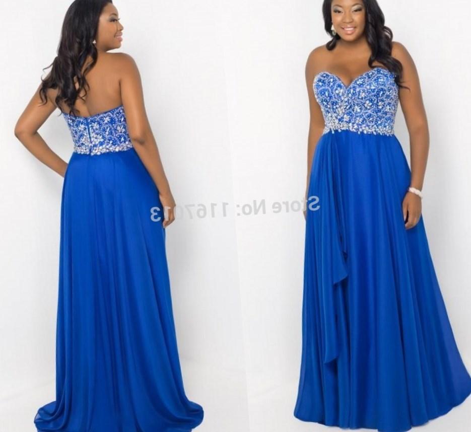 Plus size blue bridesmaid dresses collection for Royal blue plus size wedding dresses