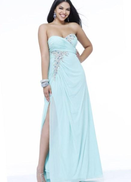 Buy Strapless Sweetheart Plus Size Prom Dress by Blush at PromGirl