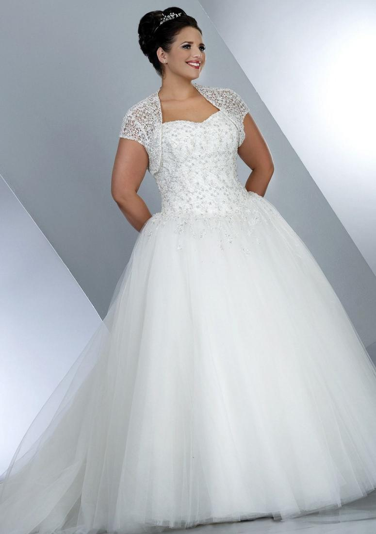 Wedding dresses plus size sleeves collection for Wedding dresses for big women