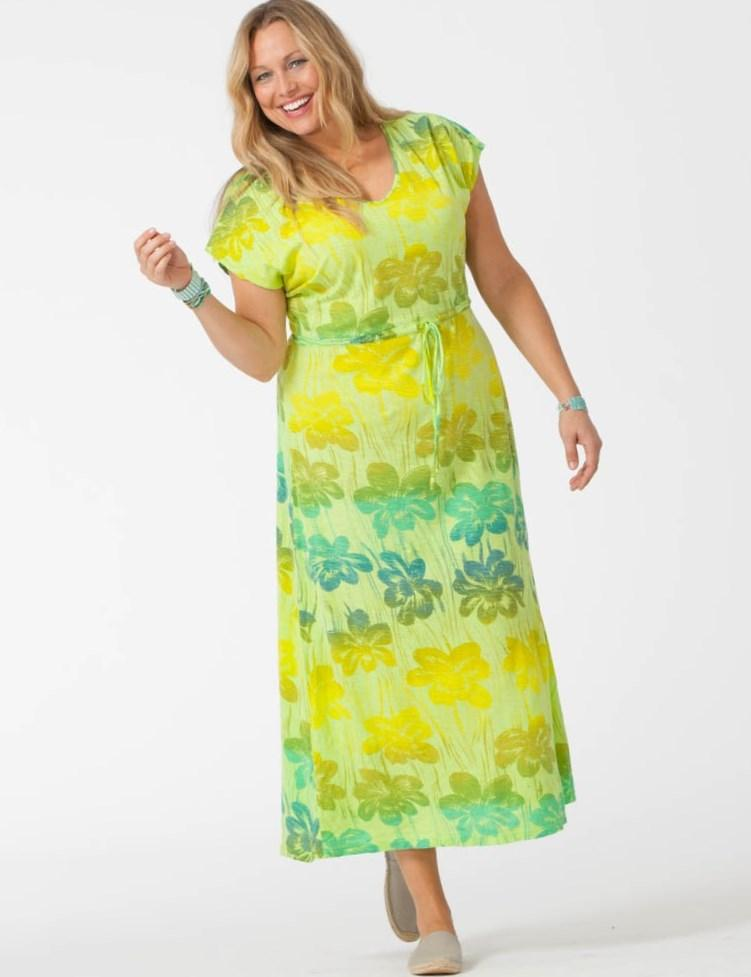 Yellow and green maxi dress