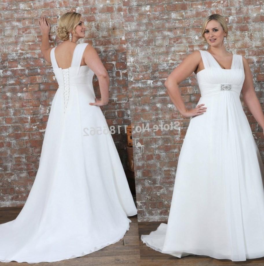 Plus size empire waist wedding dresses for Wedding dress with waistband