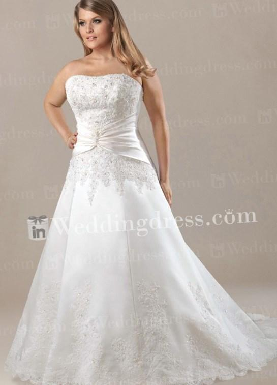 Romantic Wedding Dresses Modest Plus Size Prom Dresses