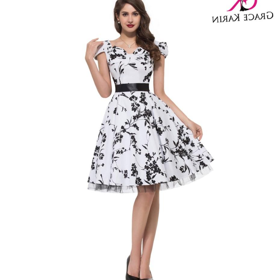 2016 Sexy Summer Plus Size Women Dress Vintage Party Gown Floral Print Pattern Dresses Short 50s