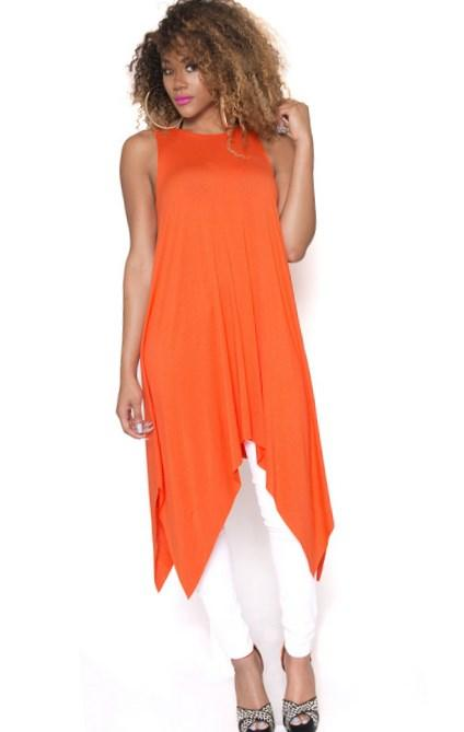Orange Michael Plus Size Shortsleeve Printed Maxi Dress