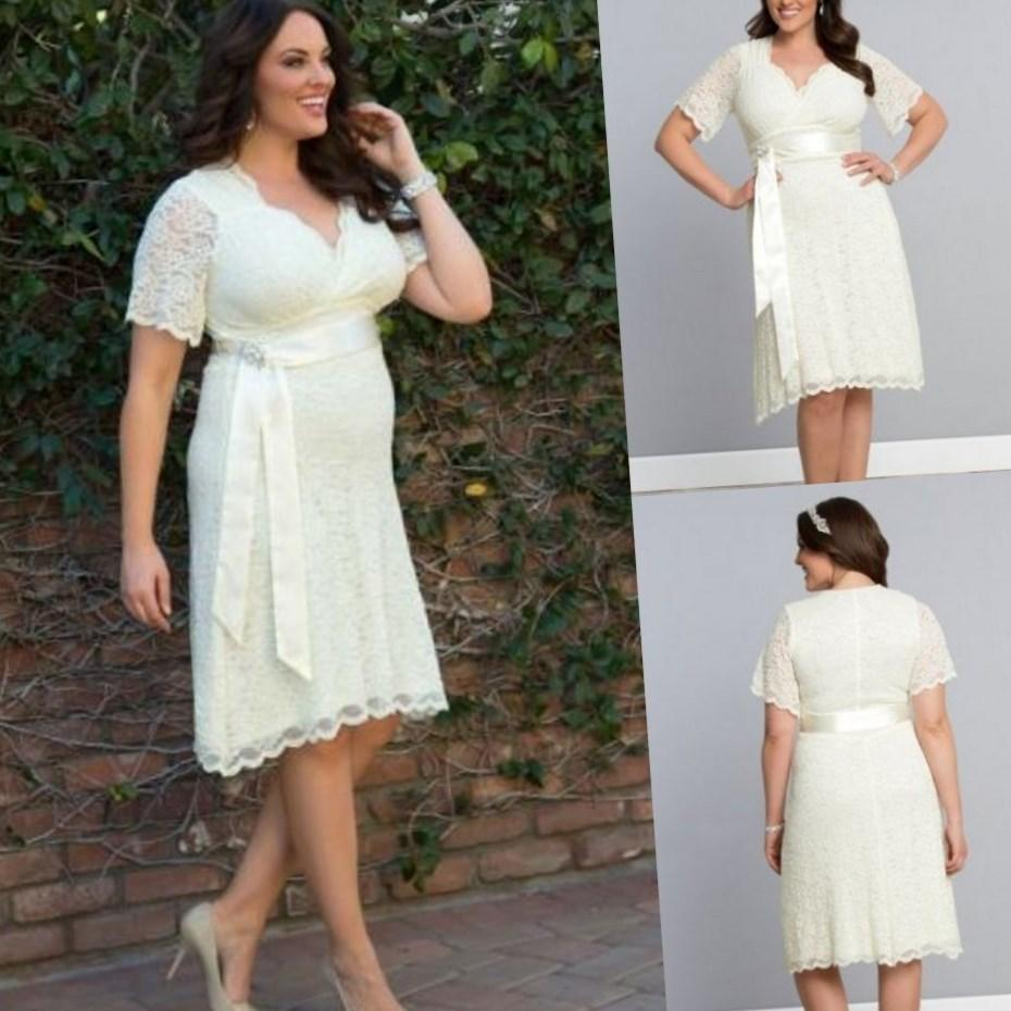 Plus size short wedding dress collection for Short wedding dresses plus size