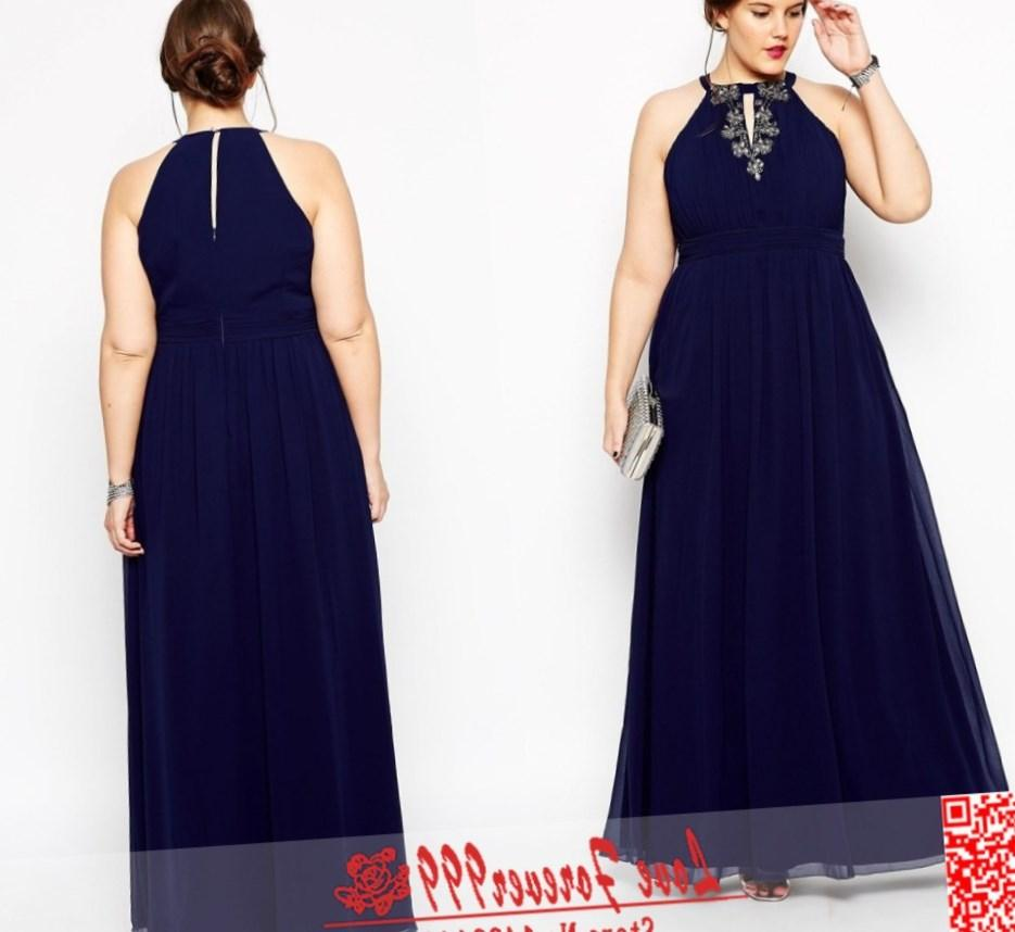Slim fit plus size prom dress with gemstones 2018