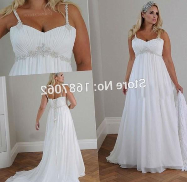 Sweetheart Lace Up Chiffon Plus Size Wedding Dresses
