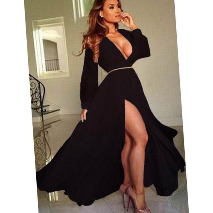 European brand plus size black lace dress 5XL women long sleeve hollow out full lace dresses