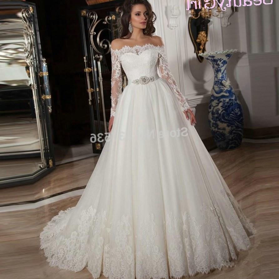 Plus size off the shoulder wedding dresses for Long sleeve plus size wedding dress