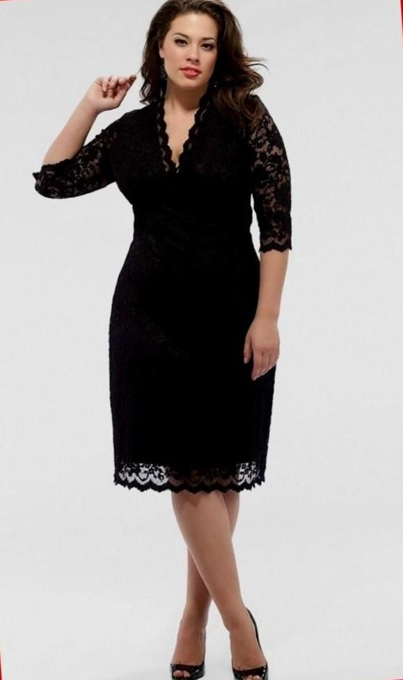 Plus size wiggle dress black