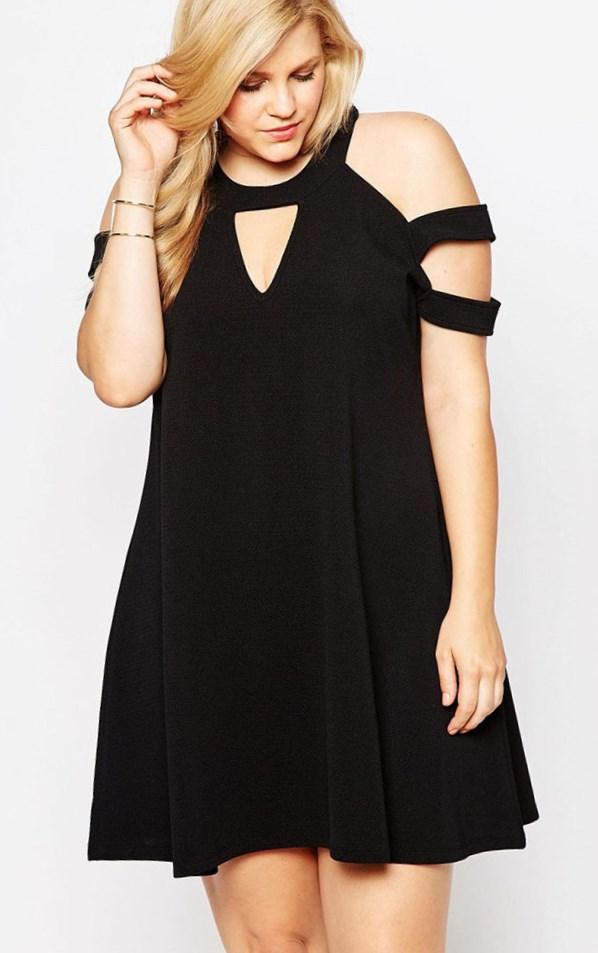Black Plus Size Party Dress Pluslook Eu Collection