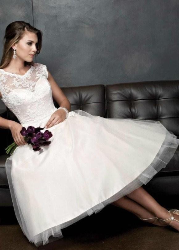 Tea Length Plus Size Bridal Dresses 94