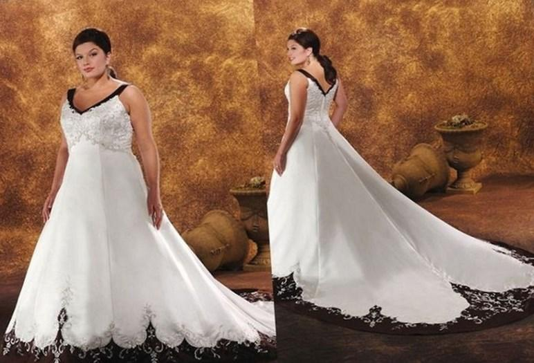 Plus Size Beautiful plus size strapless dress with beaded lace bodice over white satin