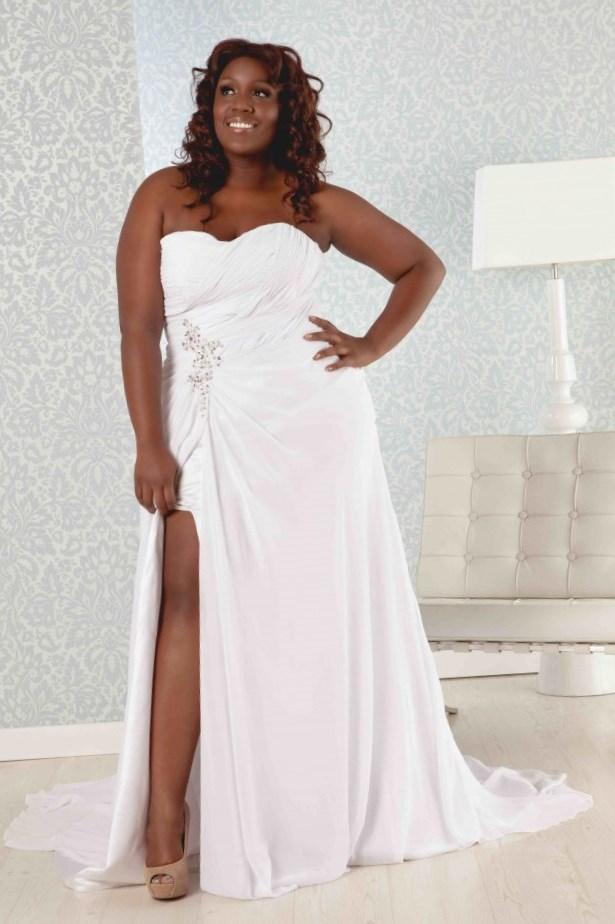 Plus size beach wedding dresses cheap collection for Discount plus size wedding dresses