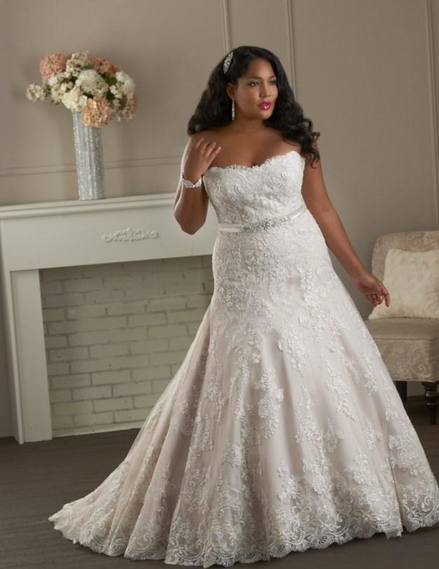 Affordable Plus Size Wedding Dresses For Big Girl Pb