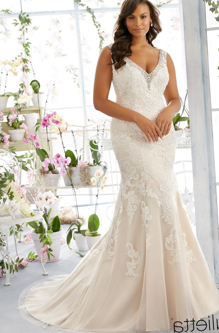 Wedding Gowns For Short Curvy Brides : This is an off the shoulder plus size wedding dresses