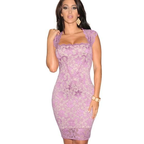 Hight quality halter neck summer sexy short lace dress plus size backless scalloped elegant bodycon dress