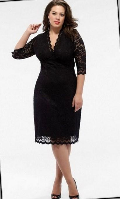 Plus Size Belted Lace Dress from DressBarn ($66, available in sizes 14-24)