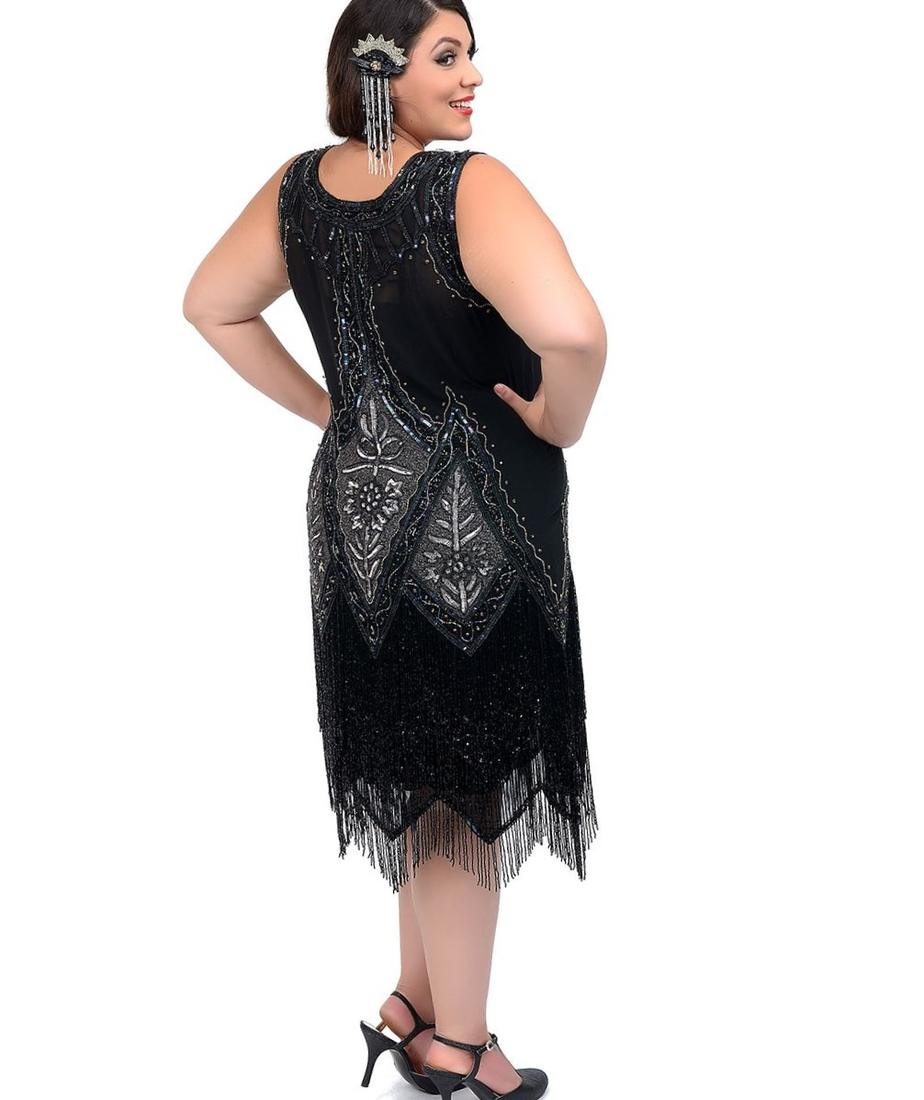 Flapper Plus Size Dress Pluslook Collection