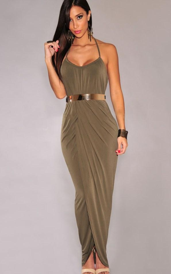 Plus Draped Dress