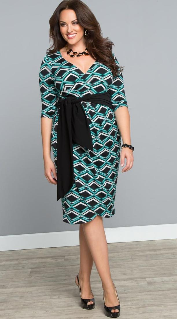 Real Curves for Stop and Stare Ruched Dress-Sale