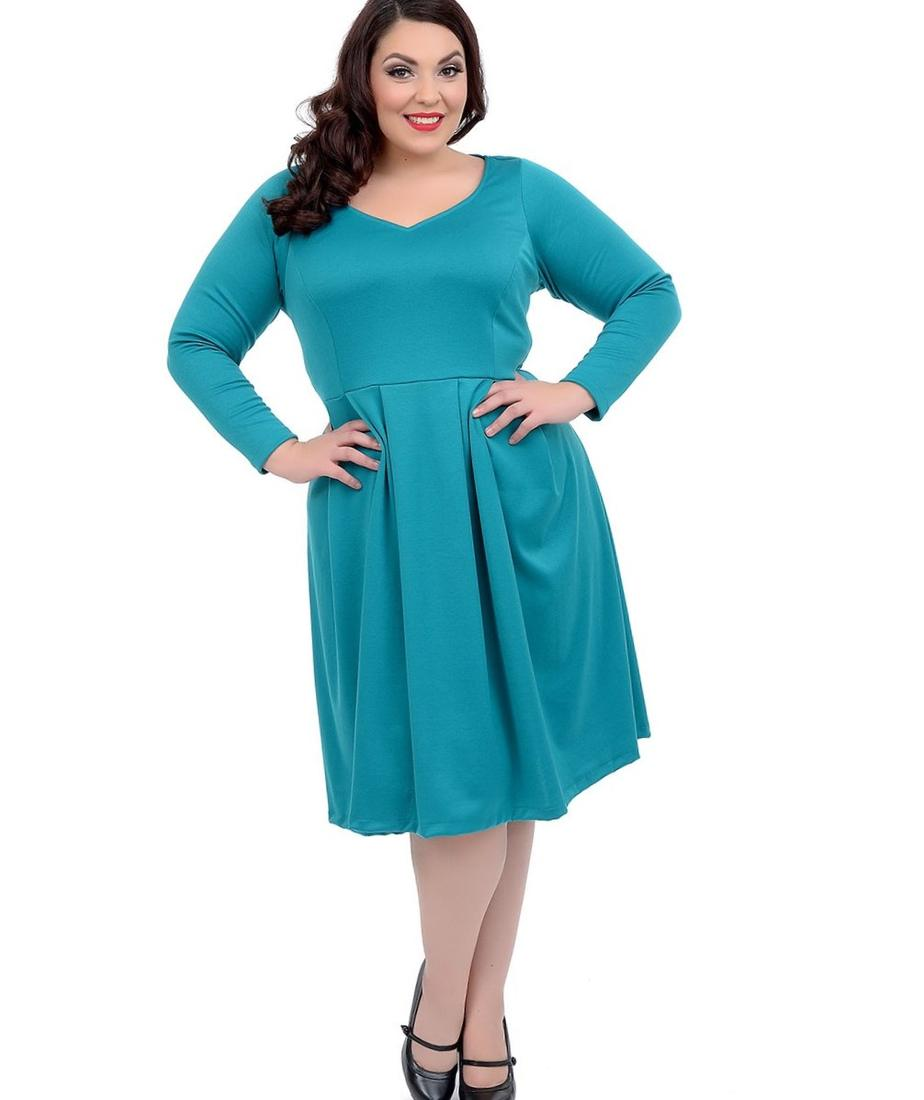 Long plus size dresses with sleeves - PlusLook.eu Collection