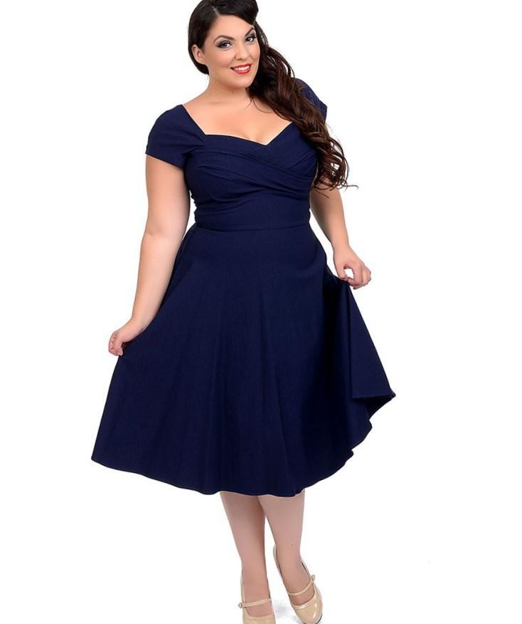 Plus Size 1950s Style Dresses Fashion Design Images