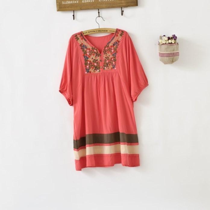 Любой цвет вышитые Мексиканское платье старинные туника крестьянин s M L XL XXL плюс Размер | eBay