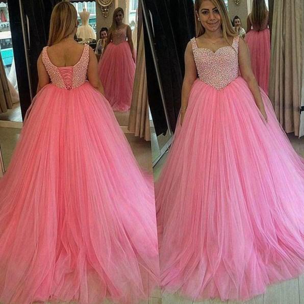 Deep v prom dresses plus